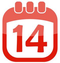 Icon calendar 14 vector