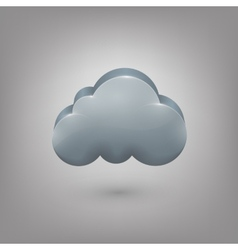 Icon weather Cloud vector