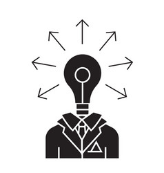 idea businessman black concept icon idea vector image