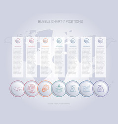 infographics color bubble chart template for 7 vector image
