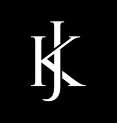 Kj Monogram Vector Images Over 1 000