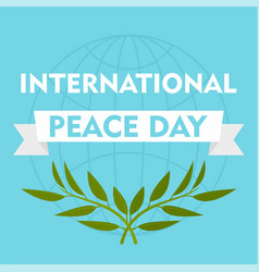 International peace day blue background flat vector