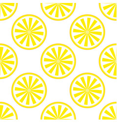 lemon fruit pattern yellow and white vector image