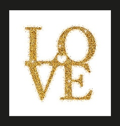 lettering Love with Heart vector image