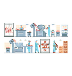 Meat processing plant composition vector