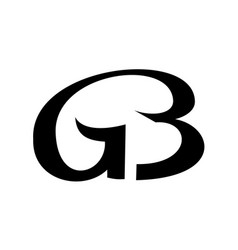 Monogram from linked letters g and b logo vector