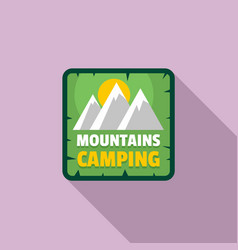 moutains camping logo flat style vector image
