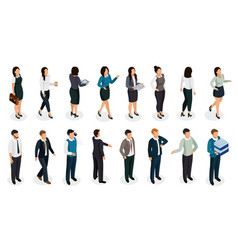 Office people isometric set vector