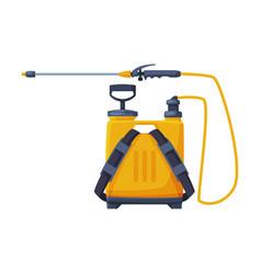 Orange pressure sprayer chemical insecticide vector