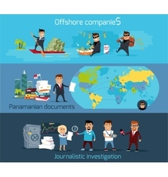 Panama papers offshore company vector