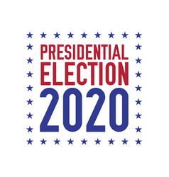 Presidential election 2020 emblem design vector