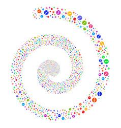 problem fireworks spiral vector image