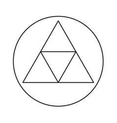 rune symbol icon vector image