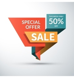 Sale banner Special offer label Shopping badge vector image