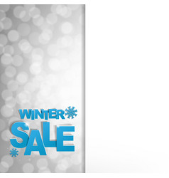sale glitter poster vector image
