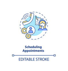Scheduling appointments concept icon vector