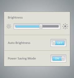 Screen brightness UI vector