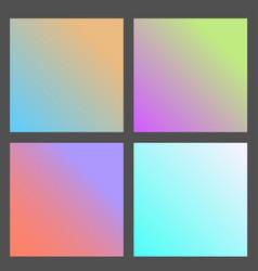 Set of gradient futuristic square design vector