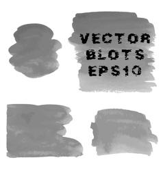 Set of grunge shades of grey watercolor hand vector image