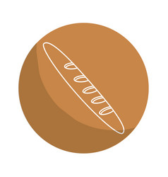 Sticker delicious fresh bakery french bread vector