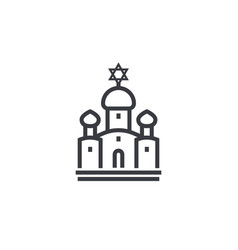 synagogue line icon on white vector image