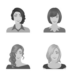 the appearance of a woman with a hairdo the face vector image