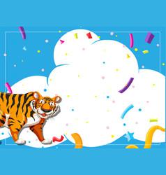 tiger party scene invitation vector image