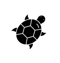 turtle black icon sign on isolated vector image