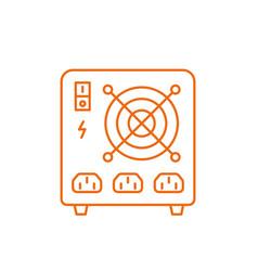 Uninterruptible power supply electrical apparatus vector
