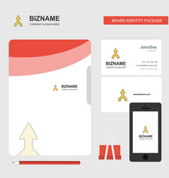 up arrow business logo file cover visiting card vector image