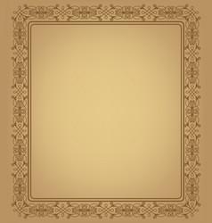 Vintage openwork frame vector