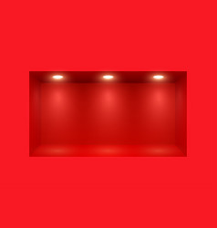 wall with realistic light and place for exhibition vector image