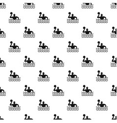 Water polo pattern vector