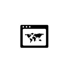 world wide web icon in flat style for apps ui vector image