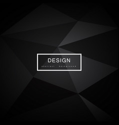 abstract black background with triangles vector image vector image