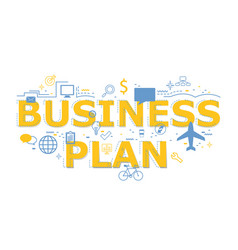 creative of business plan word letter vector image