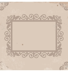 old worn texture with pattern frame vector image vector image
