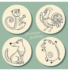 Set of the Chinese zodiac signs vector image vector image