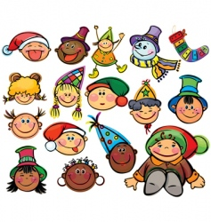 happy kids for Christmas design vector image vector image