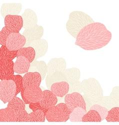 Background of pink flower petals vector image vector image