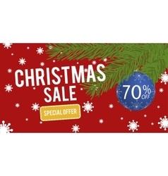 Christmas Sale with christmas ball 70 percent vector image