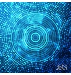 Shiny Blue Round Fantasy Mosaic Colorful vector image vector image