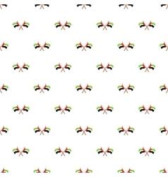UAE flag pattern cartoon style vector image vector image