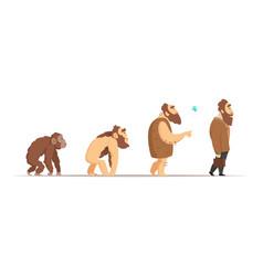 biology evolution of homo sapiens vector image