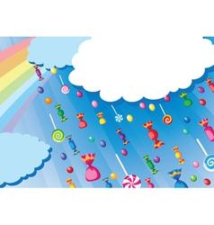 candy rain card vector image vector image