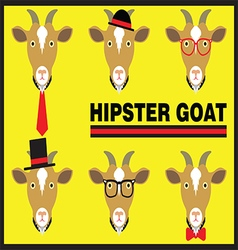 Hipster Goat Flat Cartoon vector image vector image