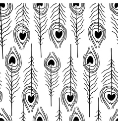 seamless feather patterns vector image vector image