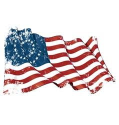 US Civil War Union 37 Star Medalion Flag Grunge vector image vector image