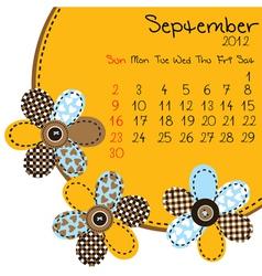 2012 september calendar vector image