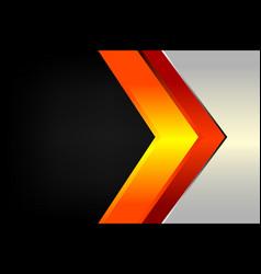 abstract arrow modern line vector image